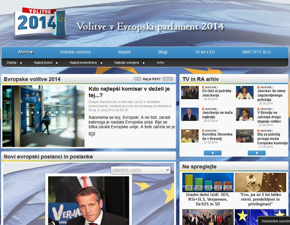Evropske volitve 2014 – Radiotelevizija Slovenija